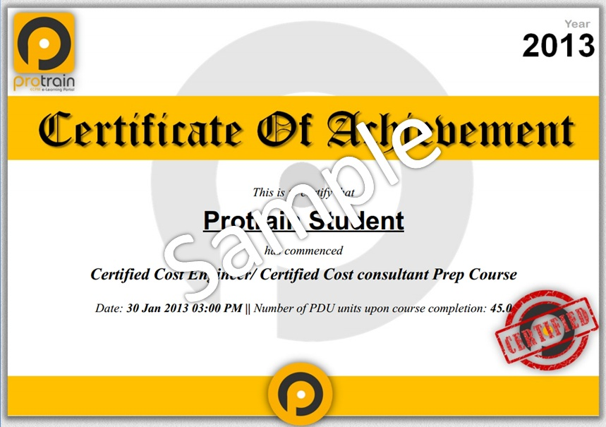 Protrain: ECPM e-Learning Portal - Download Course Certificate